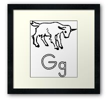 G for Goat Framed Print
