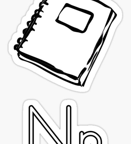 N for Notebook Sticker