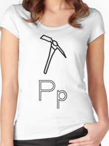 P for Pickaxe Women's Fitted Scoop T-Shirt