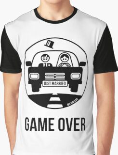 Just Married – Game Over (1C) Graphic T-Shirt
