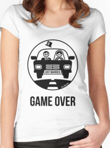 Just Married – Game Over (1C) Women's Fitted Scoop T-Shirt