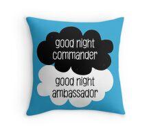 Good Night Commander - Good Night Ambassador Throw Pillow