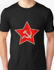 Communist Star; Hammer And Sickle T-Shirt