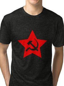 Communist Star; Hammer And Sickle Tri-blend T-Shirt