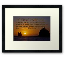 peaceful sunset w/hebrews 13:20-21 Framed Print