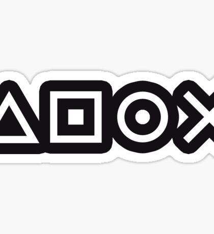 Gamer Pattern White on Black Sticker