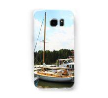 Line of Docked Boats Samsung Galaxy Case/Skin