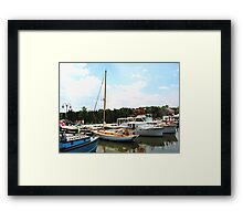 Line of Docked Boats Framed Print