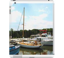 Line of Docked Boats iPad Case/Skin