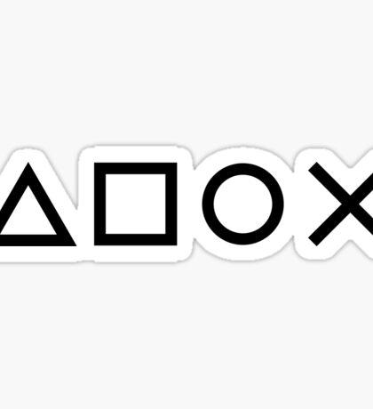 Gamer Pattern Black on White Sticker