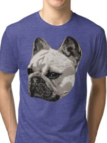 Frenchie - portrait Tri-blend T-Shirt