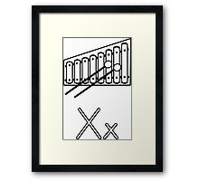 X for Xylophone Framed Print