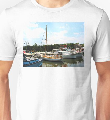 Line of Docked Boats Unisex T-Shirt
