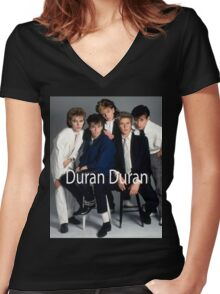 Vintage Duran Duran Band Women's Fitted V-Neck T-Shirt