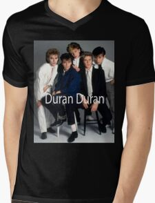 Vintage Duran Duran Band Mens V-Neck T-Shirt
