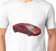 Low Poly Sports Car Unisex T-Shirt