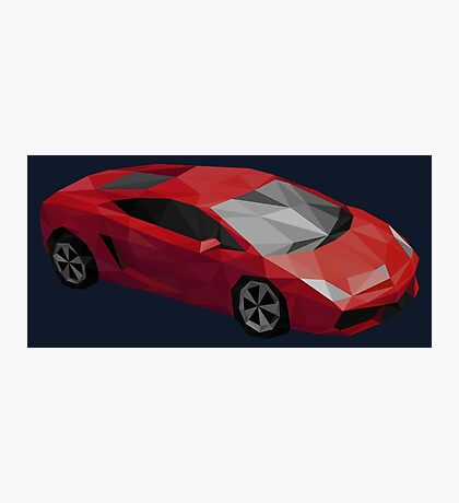 Low Poly Sports Car Photographic Print