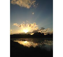 Sunset Wetlands Photographic Print