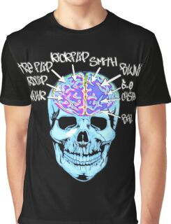 Skate On The Brain ~ Anachrotees Design Graphic T-Shirt