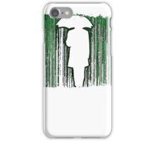 The Matrix Inspired Raining Code Design iPhone Case/Skin