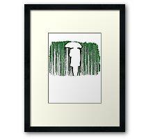 The Matrix Inspired Raining Code Design Framed Print