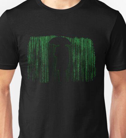 The Matrix Inspired Raining Code Design Unisex T-Shirt