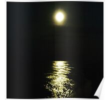 Moonlight on the sea Poster
