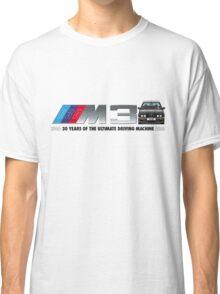 BMW E30 M3 30th Anniversary (Black Sport Evo) Black Text 2 Classic T-Shirt