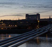 British Symbols and Landmarks - Silver Evening at the Millennium Bridge Sticker