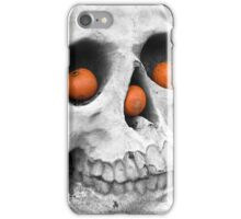 Skull with pumpkins iPhone Case/Skin