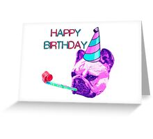 Happy Birthday Frenchie Dog Greeting Card