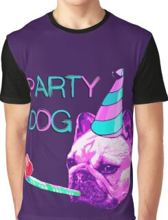 Frenchie Party Dog Graphic T-Shirt