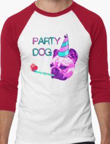 Frenchie Party Dog Men's Baseball ¾ T-Shirt