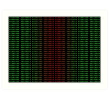 Binary Green and Red With Spaces Art Print