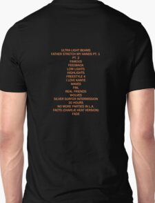 THE LIFE OF PABLO TRACK LIST T-Shirt