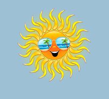 Summer Sun Cartoon with Sunglasses Unisex T-Shirt