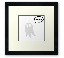 Cute Ghost Framed Print