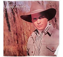Vintage Garth Brooks Young Poster