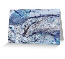 Crystal and Blue Persuasions Abstract II Greeting Card