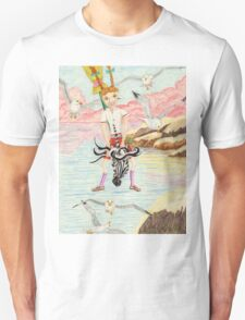Zebra Hobby Horse And The Race With The Seagulls T-Shirt