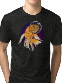 Fish in Space T-Shirt Tri-blend T-Shirt