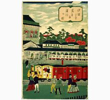 Ikkei - Steam Train from Shiodama 2 - 1872 - Woodcut Unisex T-Shirt