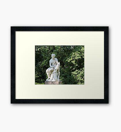 Antique  marble sculpture Herminia Framed Print