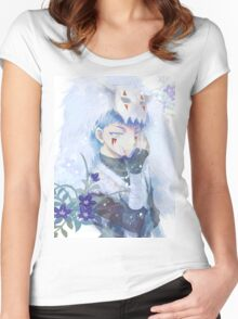 unique shin-ah painting Women's Fitted Scoop T-Shirt