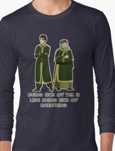 Zuko and Iroh Tea Shop with Qoute Long Sleeve T-Shirt