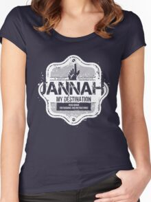 Jannah My Destination (Islamic) Women's Fitted Scoop T-Shirt