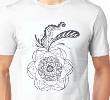 line work flower Unisex T-Shirt