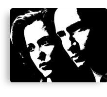 Mulder & Scully Canvas Print