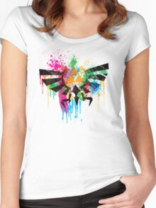 Hylian Paint Splatter Women's Fitted Scoop T-Shirt