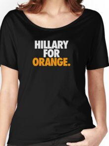 HILLARY FOR ORANGE. Women's Relaxed Fit T-Shirt